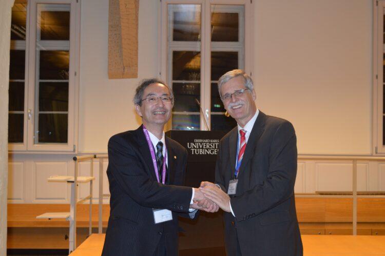 President Engler (University of Tübingen) and Vice President Yokogawa (Doshisha University)